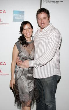 Lucy Liu and Paul Soter at the premiere of &quot;Watching The Detectives&quot; during the 2007 Tribeca Film Festival.
